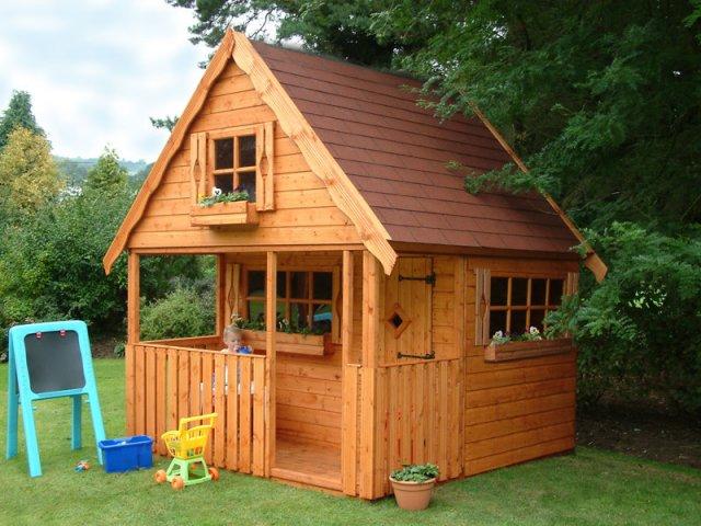 Constructii pentru gradina casute si cabanute din lemn masiv for Costruire un cottage