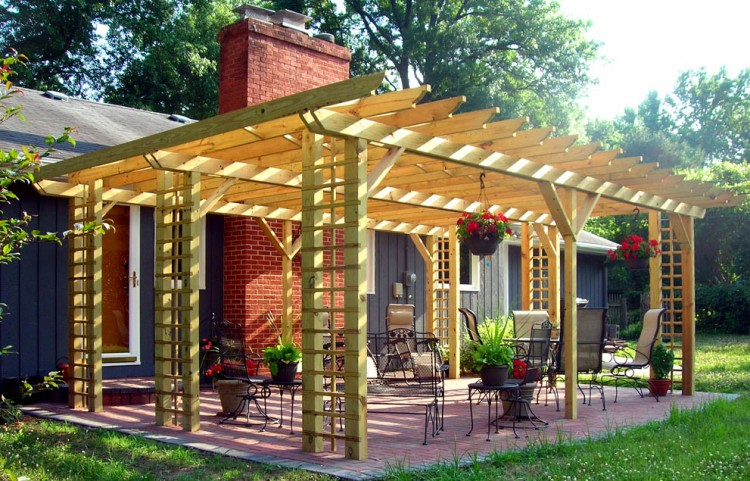 how to build an arbour oyt of wood