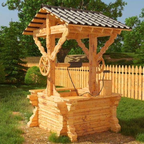 Decoratiuni rustice pt gradina fantani mori de vant si for Modele de balcon din lemn